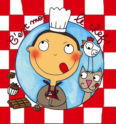 keladeco.com - #tableau c'est moi le chef en cuisine, idée deco cadeau gourmande, cuisinier, chocolat deco chambre enfant garçon - CÔTÉ TABLEAUX