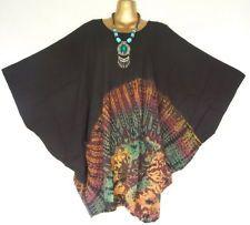 Hippy Boho Batik Tie dye Blouse Shirt Top Batwing Kaftans Caftan Plus Size Dress