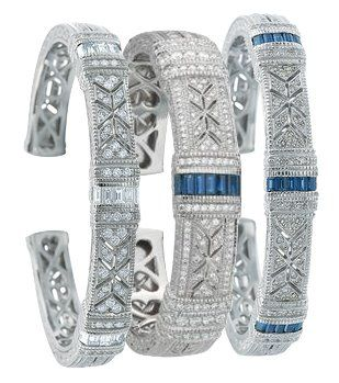 Judith Ripka cuff bracelets.