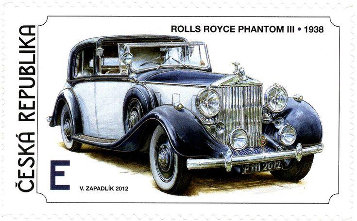 Známky: Václav Zapadlík - World Cars - Rolls Royce (Česká republika) (Historical Vehicles) Mi:CZ 737,Sn:CZ 3545d,Sg:CZ 701,AFA:CZ 742,POF:CZ 738