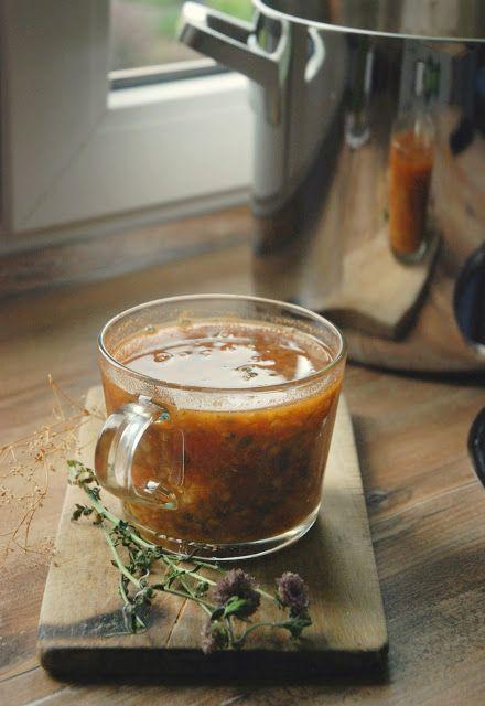 Soczewicowa zupa z imbirem
