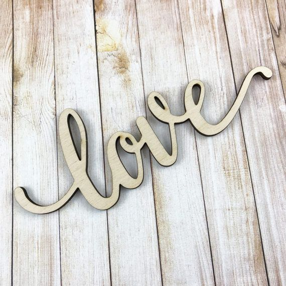 Love Wooden Word Large Wood Words Wall Gallery Wood Word
