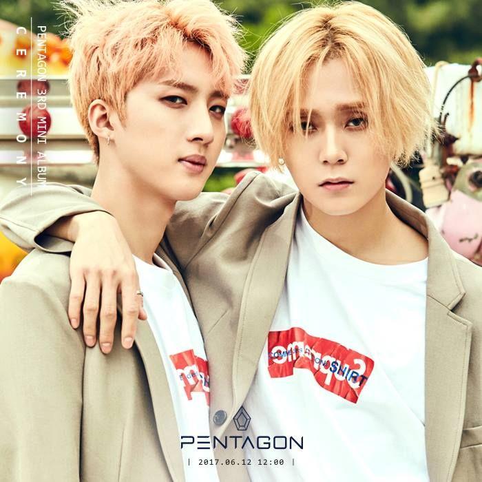 pentaon ceremony teaser, pentagon comeback 2017, pentagon ceremony concept photo, pentagon kpop profile, pentagon members, pentagon hwi 2017, pentagon triple h, kpop rookie 2017