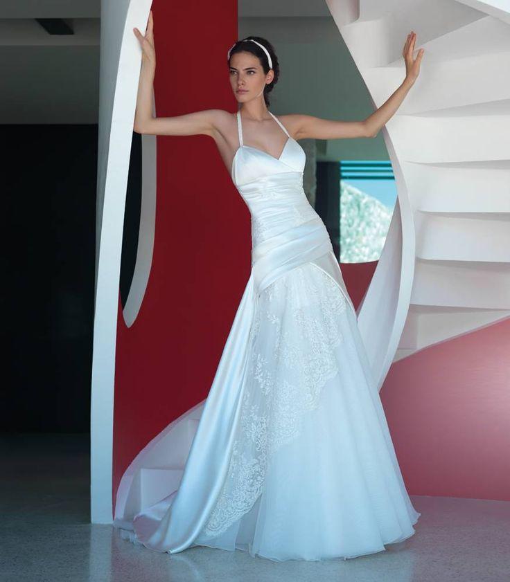 Abito da sposa svasato smontabile pizzo - Valentini Spose - Egò spose, abiti da sposa lecce, abiti da sposa puglia