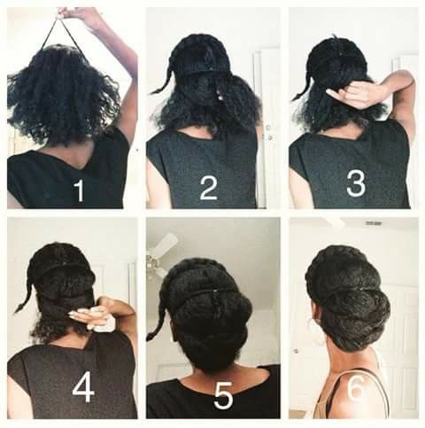 4C natural hair updo. Beautiful and easy.