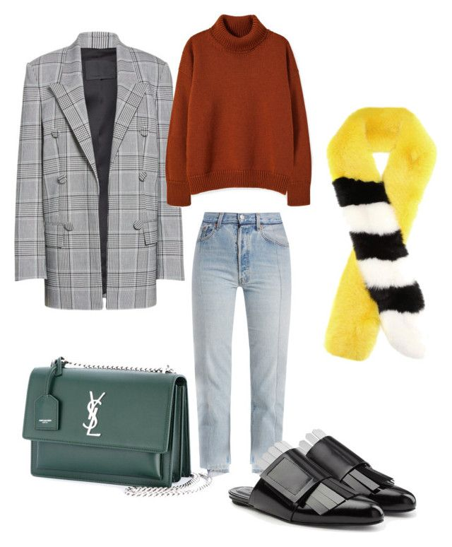 """Autumn color: yellow"" by anita-wonderlight on Polyvore featuring мода, Vetements, Alexander Wang, Marni, Yves Saint Laurent, Off-White, Fall, autumnoutfit и autumn2017"