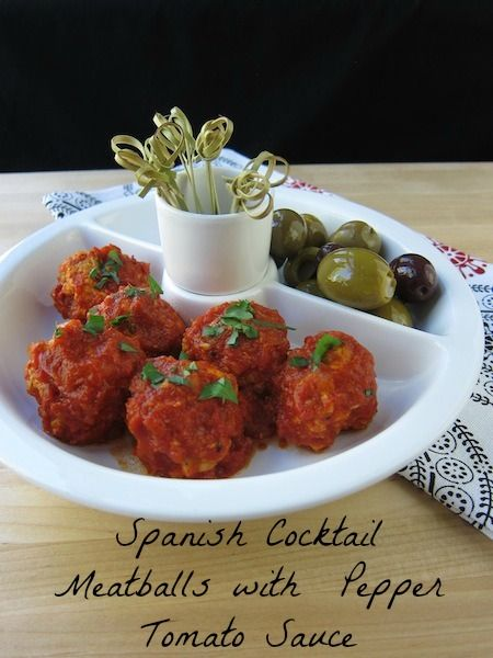 Party-Perfect Appetizer: Spanish Cocktail Meatballs with Piquillo Pepper Tomato Sauce