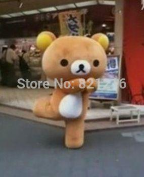 2014 Japanese Cartoon Mascot Rilakkuma Mascot Costume Korirrakuma Dress Bear Mascot Free shipping