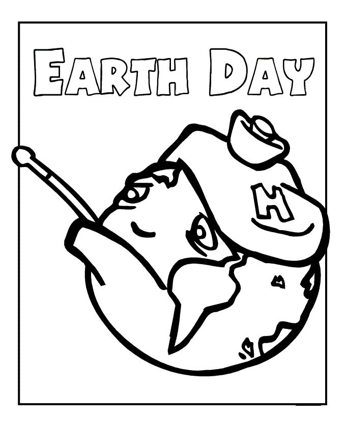 Save The Earth Pain Coloring Pages For Kids Printable Day