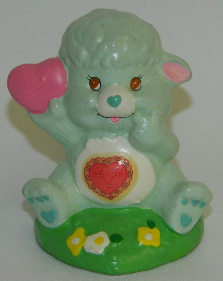 Care Bear Cousins Gentle Heart Lamb Vintage Ceramic Figurine 1985 55005