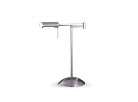 Plummers - Swing arm lamp  with a brushed nickel finish. 1-35w  Halogen bulb included.