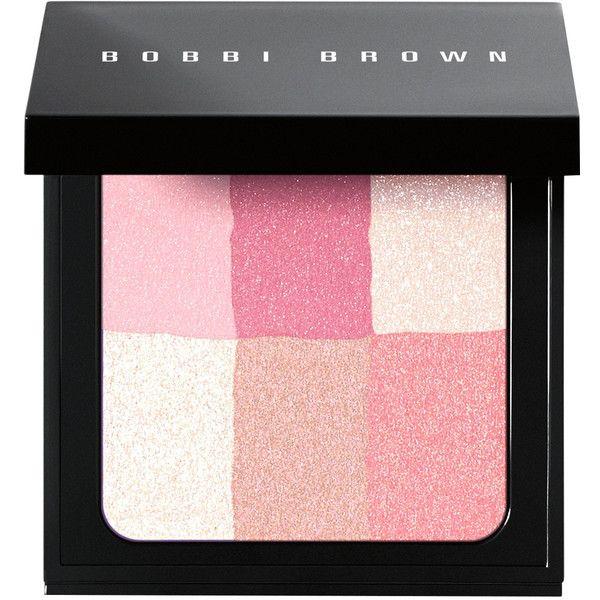 Bobbi Brown Brightening Brick - Pastel Pink  - Pink ($48) ❤ liked on Polyvore featuring beauty products, makeup, cheek makeup, blush, pink, blending brush, bobbi brown cosmetics and blender brush