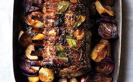 Cider-Brined Pork Roast with Potatoes and Onions / Marcus Nilsson