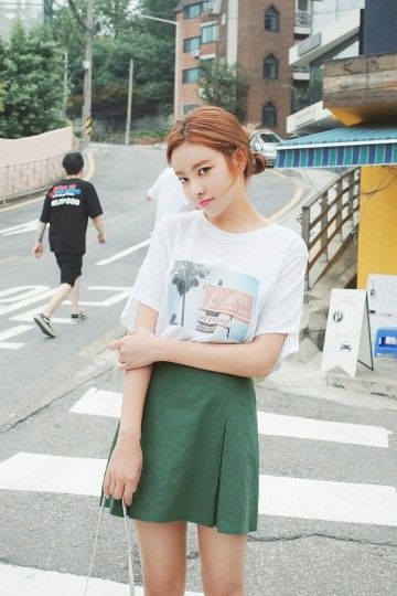 Baby Blue Tee | Korean Fashion