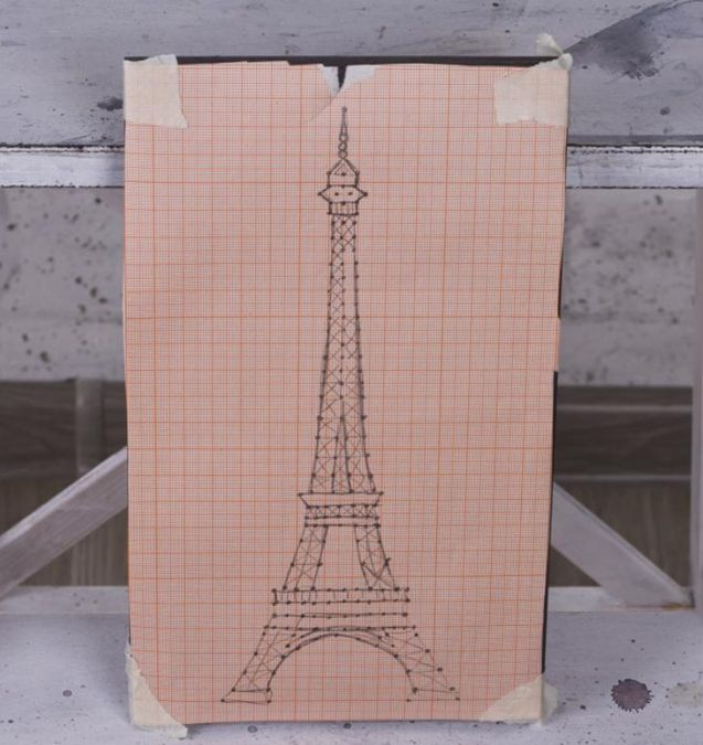 How to DIY Eiffel tower: Create interior painting in the style of string art — DIY is FUN