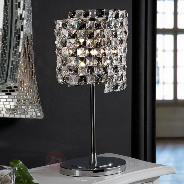 Lampa stołowa Satén z kryształami K9 8582315