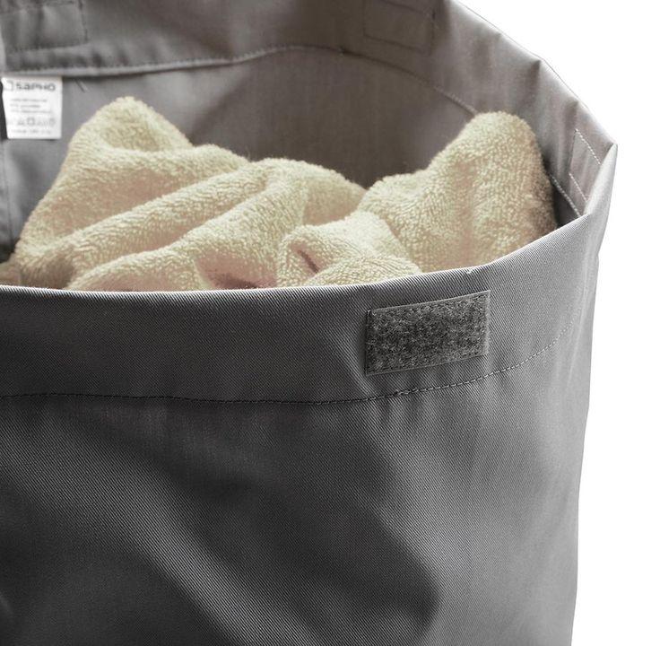 Látkový koš na prádlo 310x500x230mm, suchý zip, šedá : SAPHO E-shop
