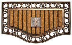 Elegant Door Mats Elegant Rubber And Coir Doormat   Contemporary   Doormats    A1