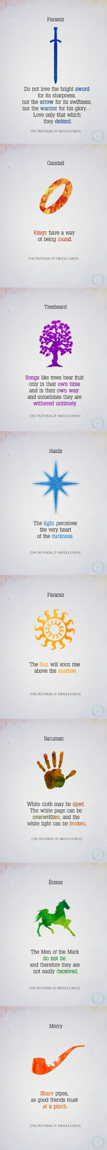 The Proverbs of Middle-Earth. Faramir's first one, though. <3