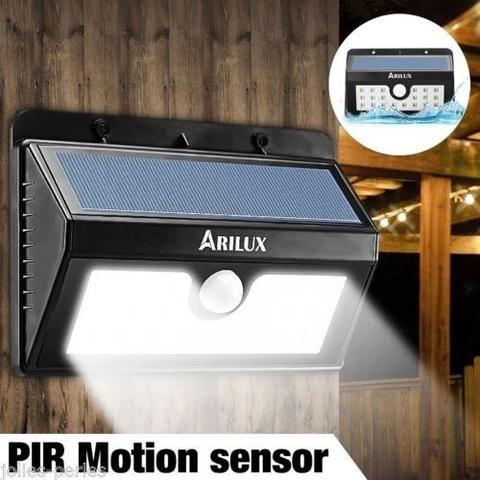 JP New 20 LED Lights Solar Power Motion Sensor Lamps Wall Lights Street Lights