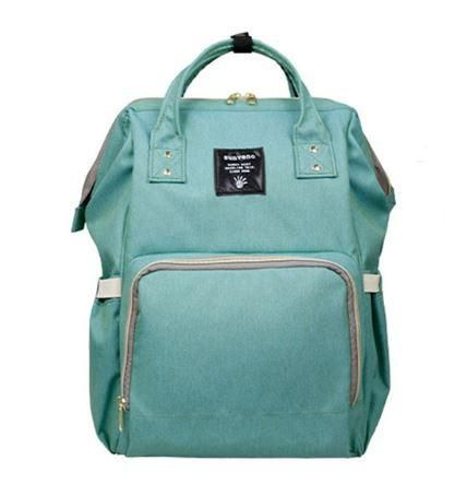Stylish Diaper Backpack for Mom on the Go, with compartments to easily pack baby bottles, diapers and clothing. Beautiful fresh colors to suit your style.   Mea