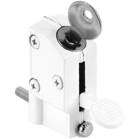 Defender Security U 9884 Sliding Door Lock Keyed Step On White