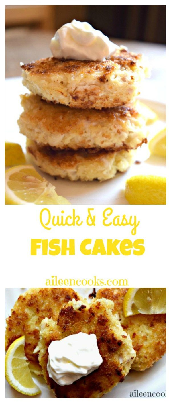 Easy and delicious fish cakes made with tilapia or cod. This 30 minute meal is kid friendly, too. | http://aileencooks.com