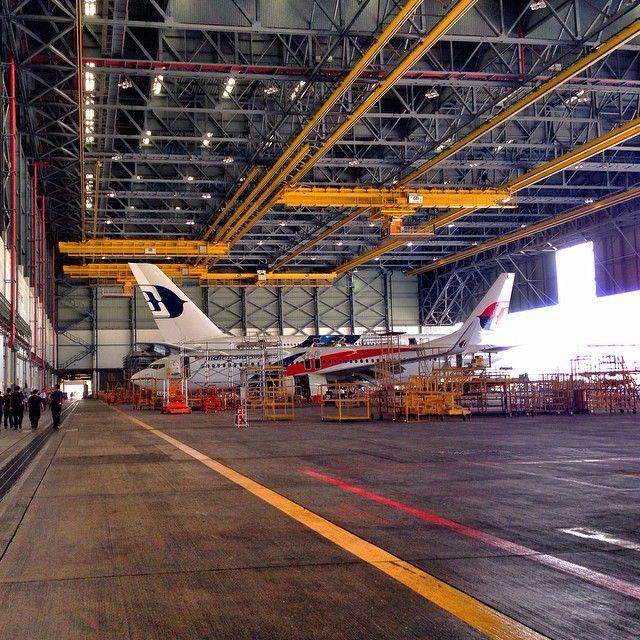 Malaysia Airlines Klia Aircraft Hangar Malaysia Airlines Aircraft Maintenance Malaysian Airlines