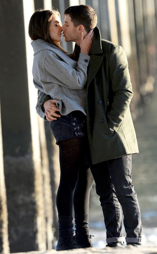Nick Jonas & Olivia Culpo Pack on the PDA While Filming Music Video