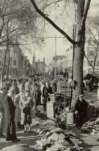 Rotterdamse markt Noordplein. Op weg naar oma in de Noormolenstraat, deze markt vaak gepasseerd. Gezellig druk en koopjes in overvloed. Oma kocht hier van alles en kende er de kooplieden. Moest ook wel met al die kinderen.