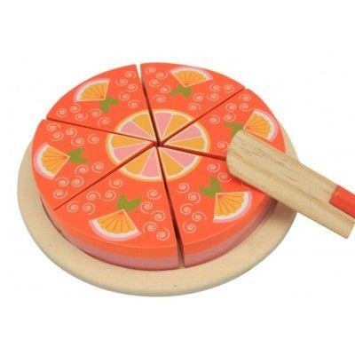 Legemad - kage i træ, appelsin - Magni
