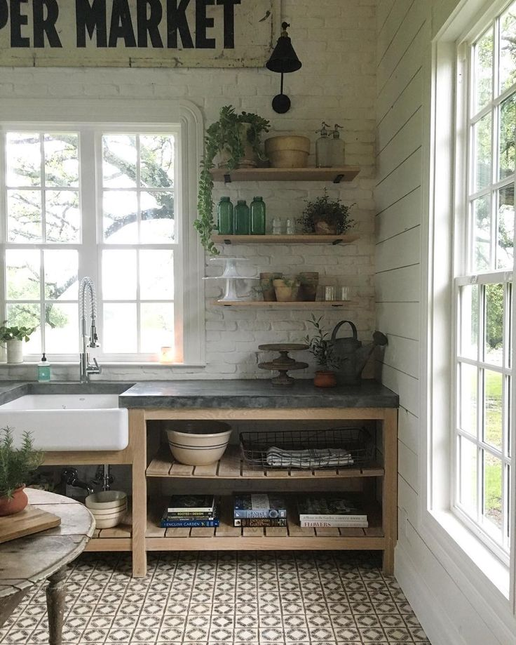 Fixer Upper Country Kitchen: Garden Kitchen Inspo For The Basement