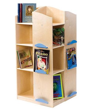 With 16 shelves and 12 powder-coated metal display brackets, this smart wooden book tower is ideal for storing a wide array of books, toys and plush animals. It stores so many volumes it's almost as good as a trip to the library!