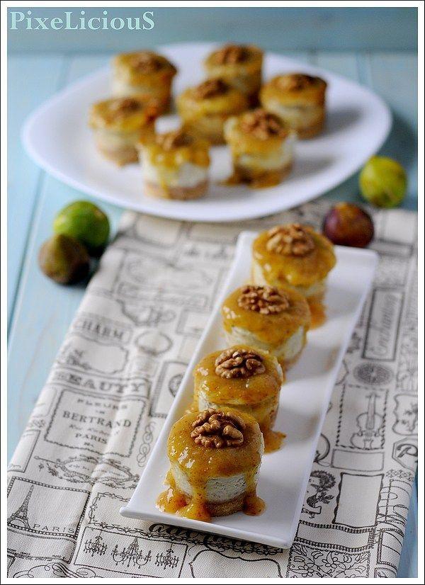 cheesecakes gorgonzola fichi