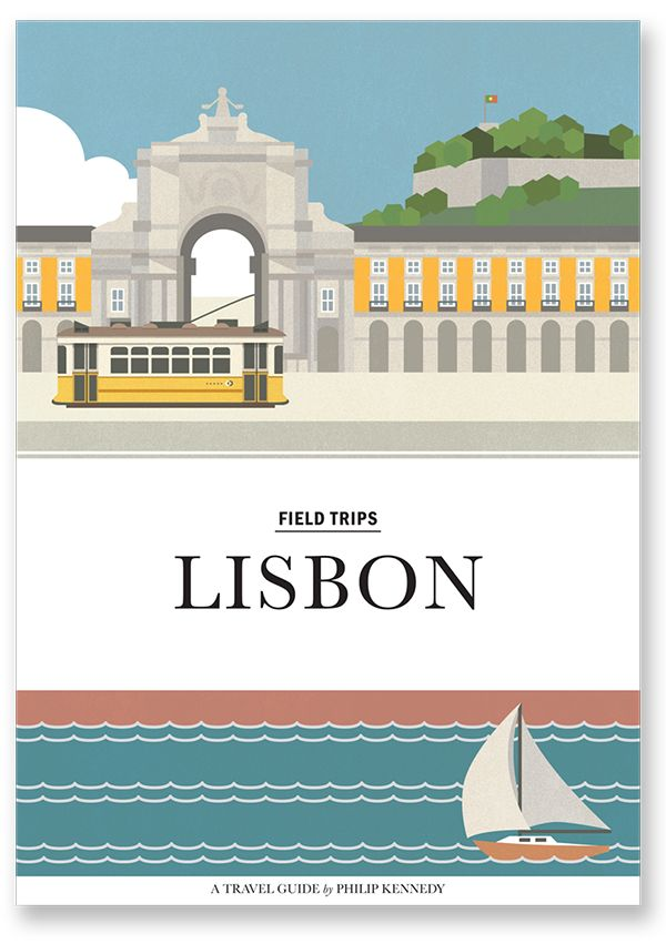 Lisbon Travel Guide illustrations by Philip Kennedy. #TravelGuide #Travel