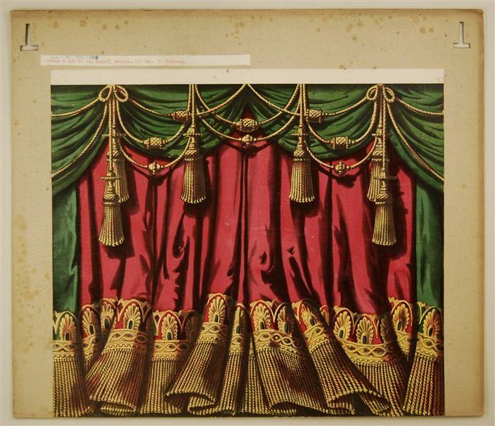 Vorhang, rot und grün. - SKD Online Collection