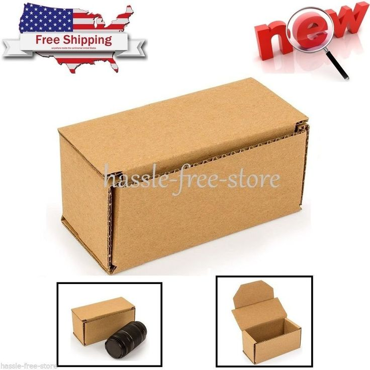 """Small Carboard Box 6"""" x 3"""" x 3"""" Gift Shipping Storing Packing Retail (Pack - 25). 100 percent recycled corrugated box for packing, shipping, and storing. 32 ECT grade for standard stacking performance. Rectangular shape fits various items. Made of single wall C flute corrugated fiberboard with standard kraft color. Note:For return policy in non product problem,customer has to response for shipping fee and 15% restore fee,And please return within 14 days."""