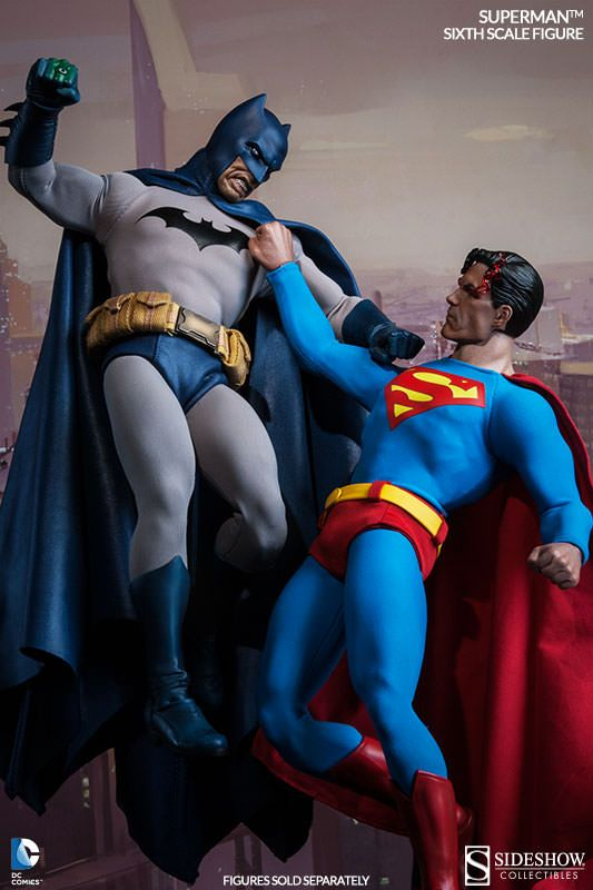 The Superman Sixth Scale figure now available at SideshowCollectibles.com for fans of Superman, Man of steel and DC comics.