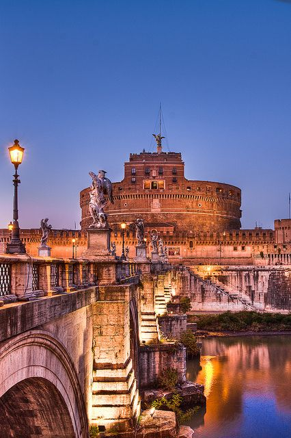 Castel Sant'Angelo, Rome, Italy This place is really interesting, toured it at night, which made it even more intriguing!