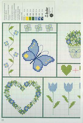 Gráficos de Ponto Cruz e Croché: Março 2009
