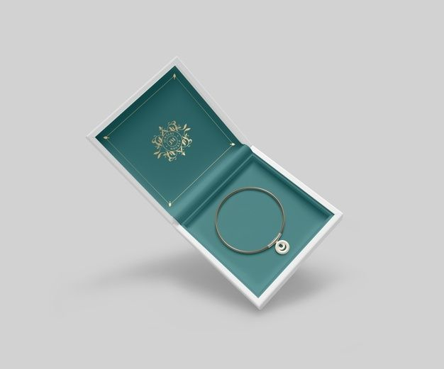 Download Download Jewelry Box With Golden Bracelet And Symbol For Free Jewelry Logo Jewelry Box Green Jewelry
