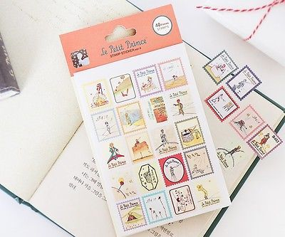 Stamp type cute character stickers random 1, 3, 5, 10 pcs among 26 designs