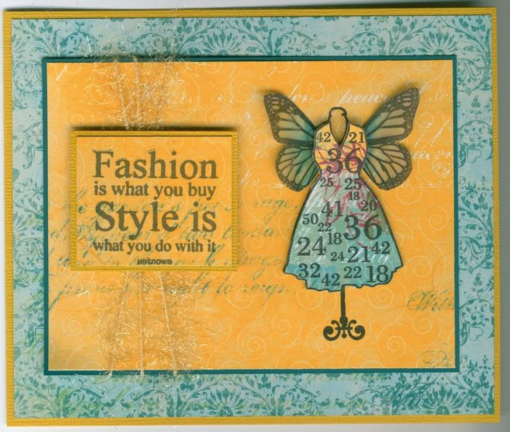 Winged mannequin siset093: Stamp-it Australia. Card by Susan of Art Attic Studio