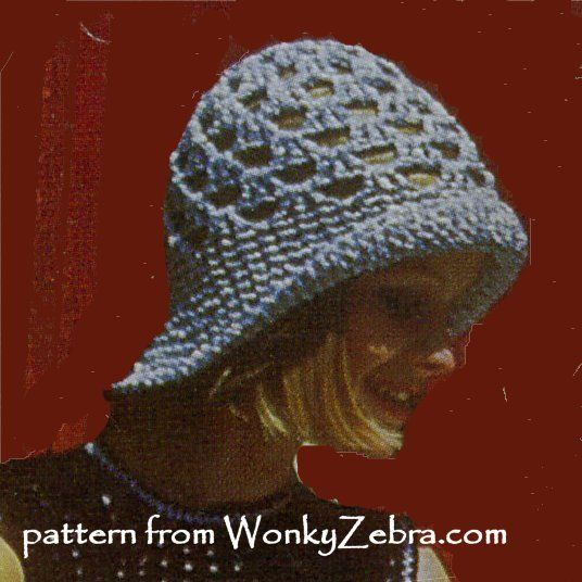 WZ656 A crochet pattern for the same retro silver cloche hat as WZ699 dress pattern