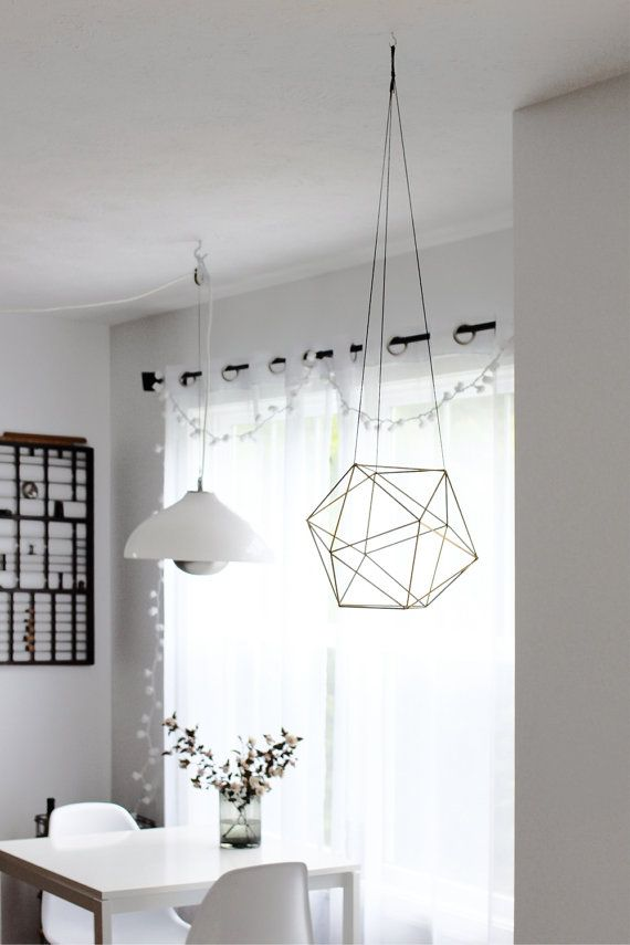 Brass Orb Himmeli / Modern Hanging Mobile / Geometric by HRUSKAA