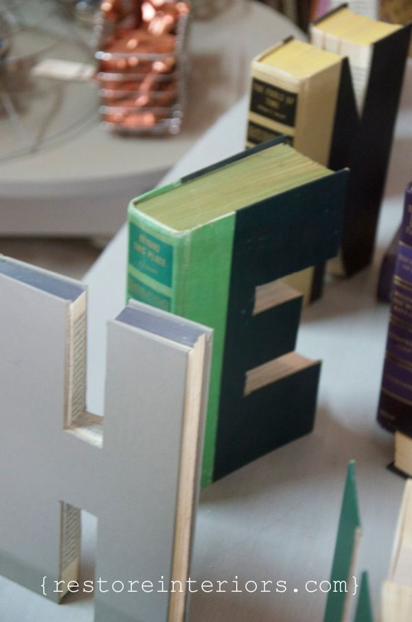 letters cut from books