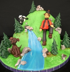 Learn how to make the Mountain Scene Cake