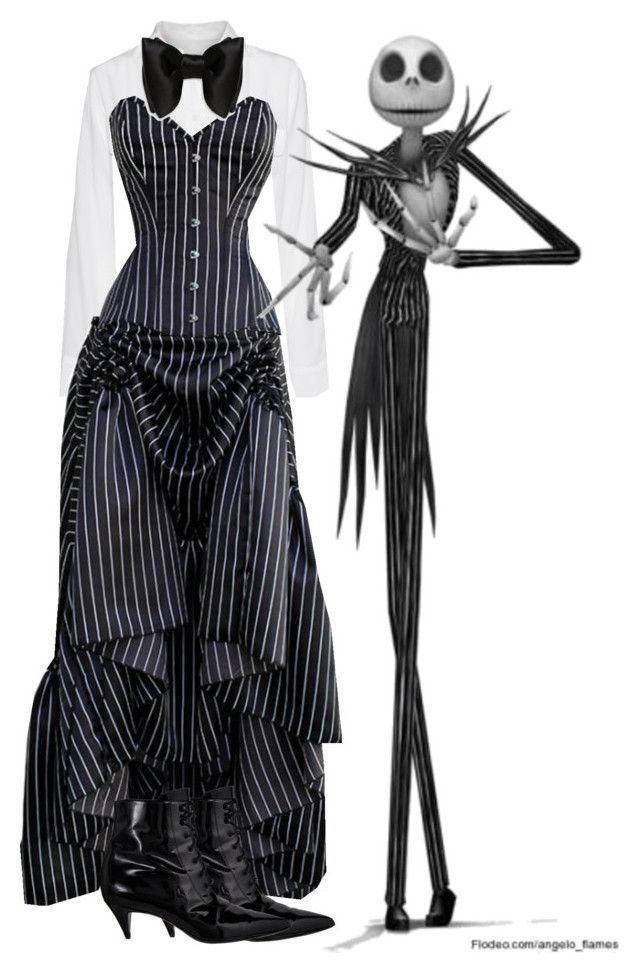 Woman Jack Skellington by slytheriner on Polyvore featuring Equipment, Yves Saint Laurent and Burton