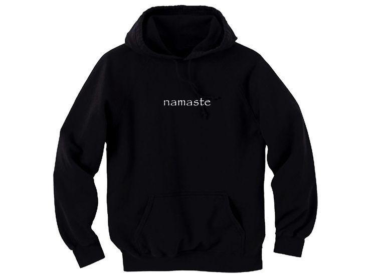 Namaste yoga terms black man/women hoodie by mycooltshirt on Etsy