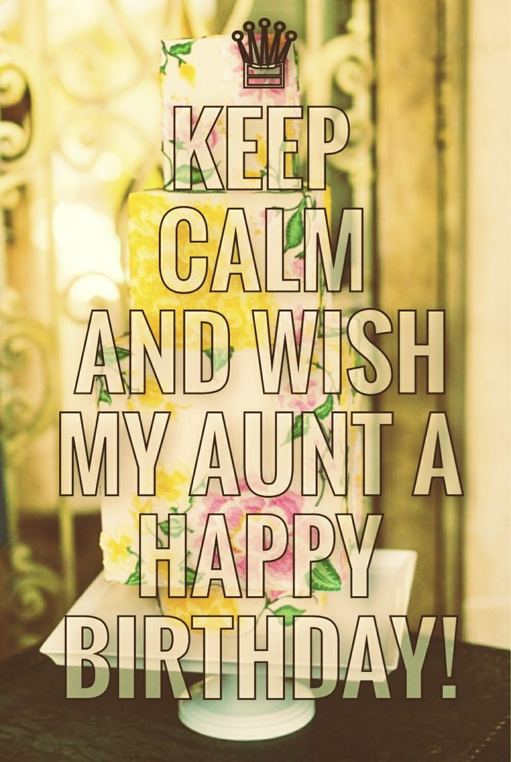 Happy Birthday Aunt!